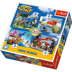 4 in1 - Super Wings - Puzzel