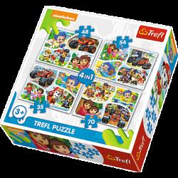 4 in1 - Nickelodeon Collectie - Puzzel