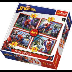 4 in1 - Spider-Man - Puzzel
