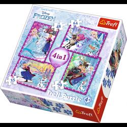 4 in1 - Frozen - Puzzel
