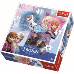 3 in 1 - Frozen Land Heroes / Disney Frozen - Legpuzzel