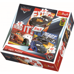3 in 1 - After the race / Disney Cars 2 - Legpuzzel