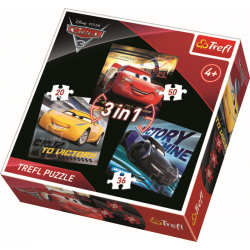 3 in 1 -  Cars 3 - Legpuzzel