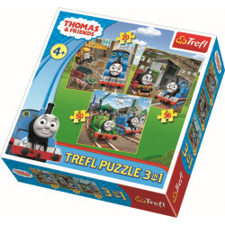 3 in 1 -  Thomas de Trein - Puzzel