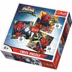 3 in 1 - Spiderman's wereld - Legpuzzel