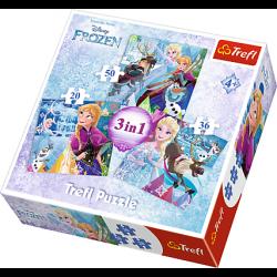 3 in 1  - Frozen - Puzzel