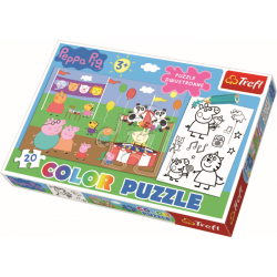 Color Puzzel - Peppa Pig, 20 stukjes - Puzzel