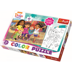 Color Puzzel - Dora and friends, 40 stukjes - Legpuzzel