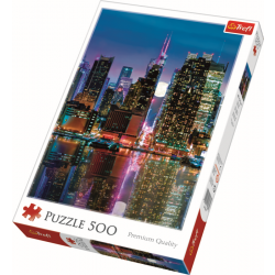 Full moon over the Manhattan / Trefl - 500 pcs - Legpuzzel