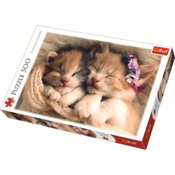 Sleeping Kittens   / Trefl - 500 pcs - Legpuzzel