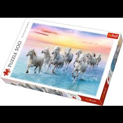 Witte paarden, 500 stukjes - Puzzel
