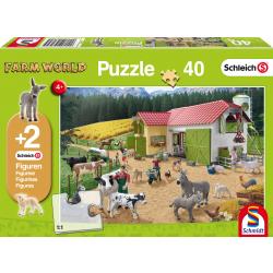 Een dag op de boerderij, 40 stukjes - Legpuzzel