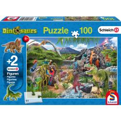 In het rijk van de Dinosauriers, 100 stukjes - Legpuzzel