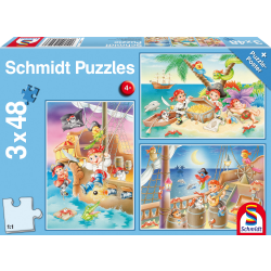 Piraten!  3 x 48 stukjes - Puzzel