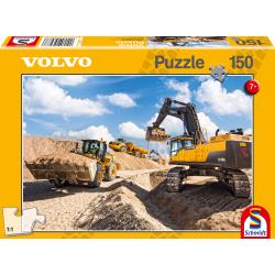 Volvo L120GZ, A40F, EC750D, 150 stukjes - Puzzel