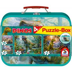 Dinos, Puzzle-Box, 2x60, 2x100 stukjes - Puzzel