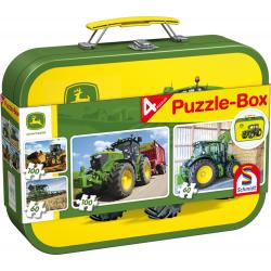 John Deere, Puzzle-Box, 2x60, 2x100 pcs - Legpuzzel