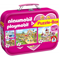 Playmobil, Puzzle-Box rose, 2x60, 2x100 pcs - Legpuzzel