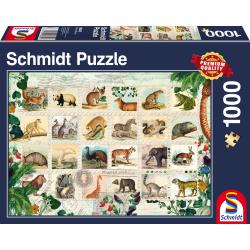Dierlijke postzegels, 1000 pcs - Legpuzzel