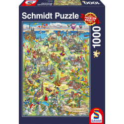 Illustrated Map of Germany 1000 pcs - Legpuzzel