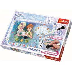Frozen, met stift 70 stukjes - Legpuzzel