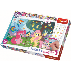 My Lttle Pony,  35 stukjes plus stickers - Puzzel