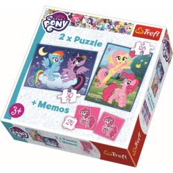 2 in 1 + memory - My Little Pony - Puzzel