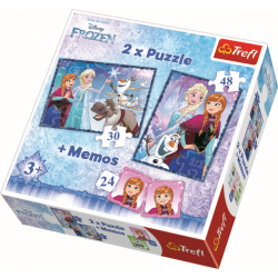2 in 1 + memory - Frozen - Puzzel