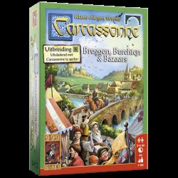 Carcassonne: Bruggen, Burchten en Bazaars - Bordspel