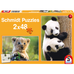 Cute Animal Babies 2x48 pcs