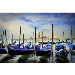 Gondolas at St. Marc's square, Venice, 1000 pcs