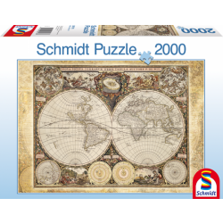 Historical map of the world 2000 pcs