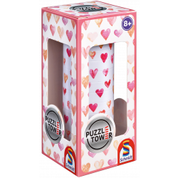 Puzzle Tower adults, Hearts - Breinbreker