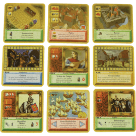 De Kolonisten van Catan Het Kaartspel Ridders en Kooplieden_spelmateriaal