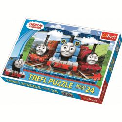 Maxipuzzel 24 pcs - Happy engines / Thomas de Trein - Legpuzzel