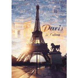 Puzzles - 1000 - Paris at dawn / Trefl - Legpuzzel