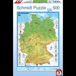 Map of Germany 500 pcs