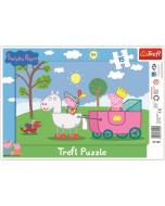Framepuzzel 15 pcs -  Peppa Pig - Ridder - Legpuzzel