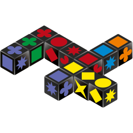 Qwirkle Cubes speelmateriaal