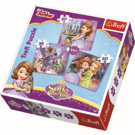 3 in 1  - Sofia and her friends / Disney Sofia the First - Legpuzzel
