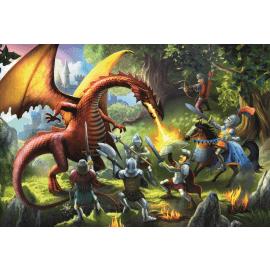 Puzzles - 100 - Meeting the dragon / Trefl - Legpuzzel