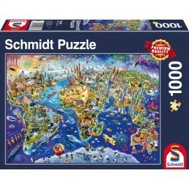 Ontdek onze wereld, 1000 pcs - Legpuzzel