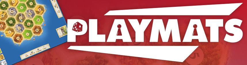 Vanaf 1 oktober gratis playmat bij Catan, Qwirkle en Camel Up!