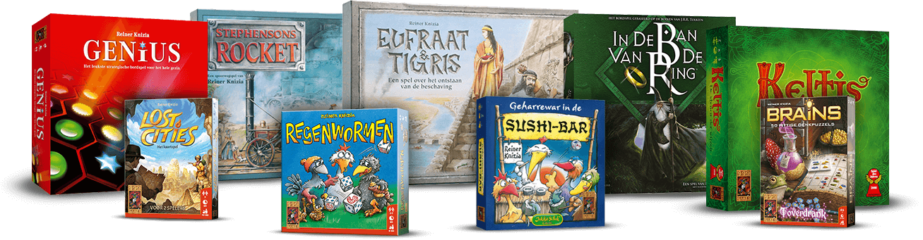 Een paar van Reiner Knizia zijn populaire spellen