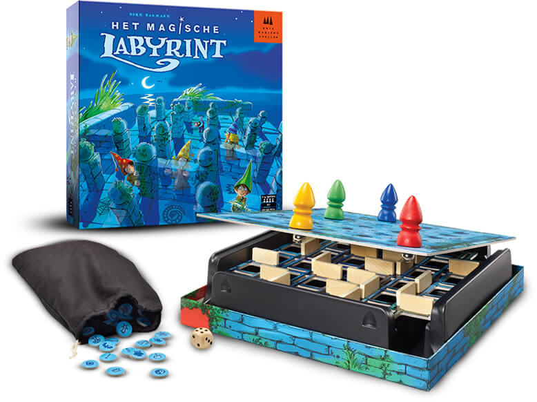 Het Magische Labyrint Van Drie Magiërs Spellen Leuk Kinderspel Voor Jong En Oud