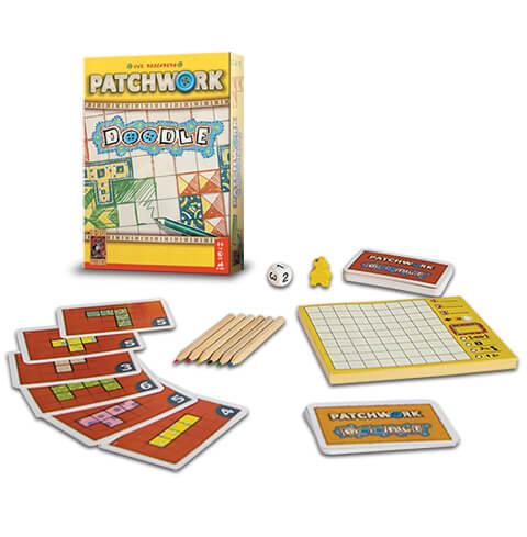 Patchwork Doodle is een vlot puzzelspel, dat door het compacte formaat overal te spelen is.