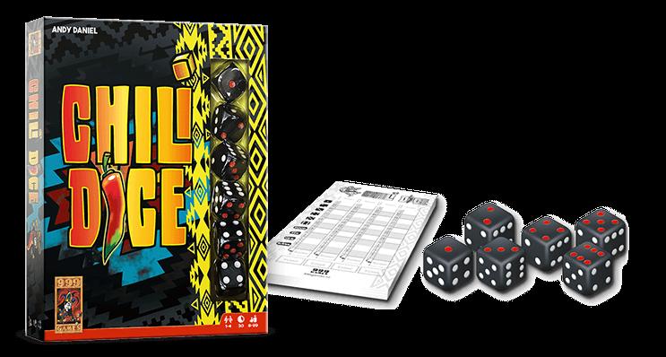 999 Games - Chili Dice - Pittig dobbelspel waar jij graag je handen aan wilt branden.