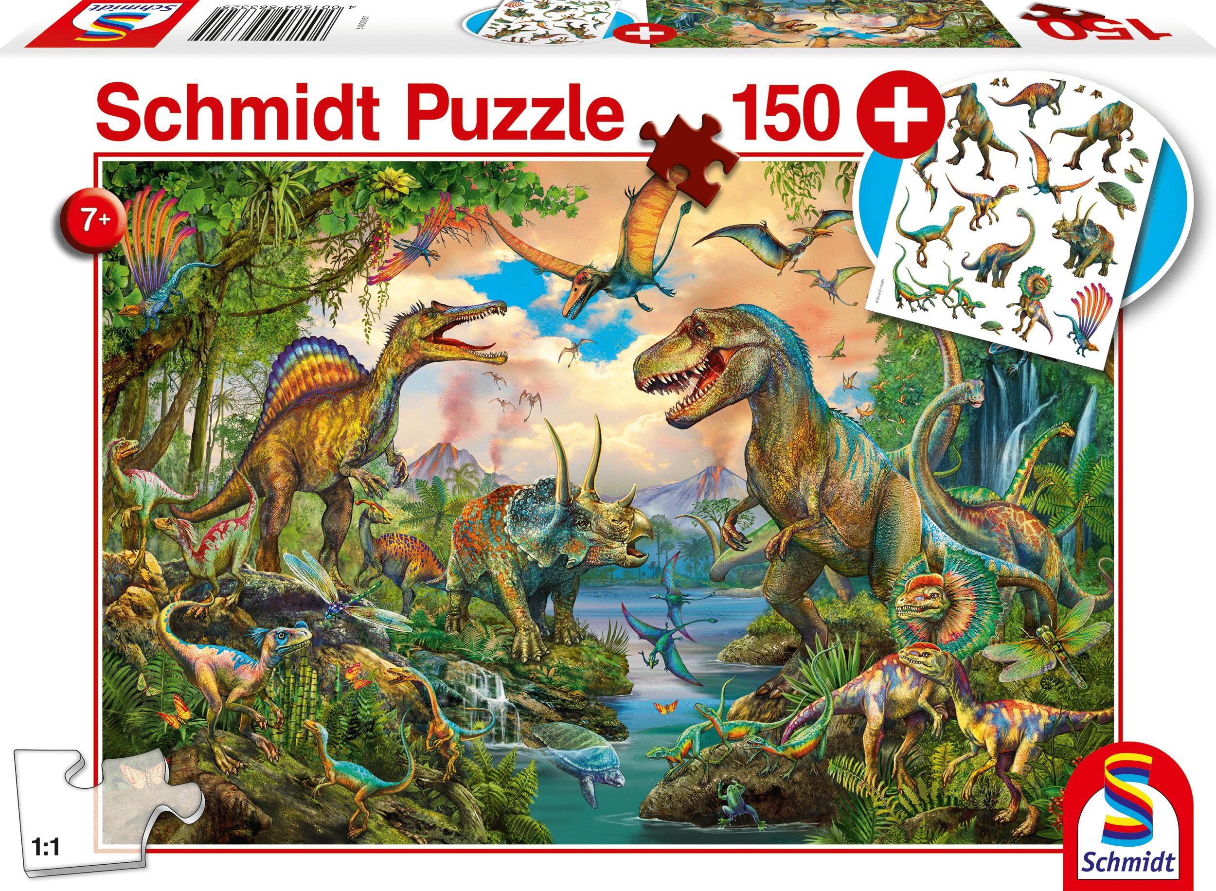 Wilde Dino's  150 stukjes - Puzzel