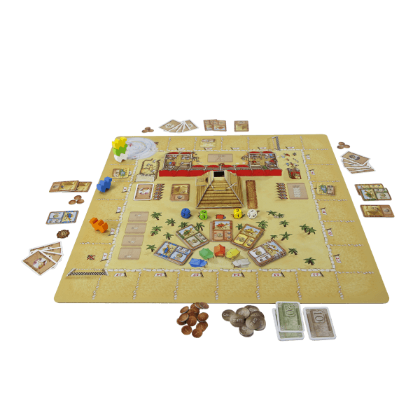 Camel Up playmat Grandprix of the Sahara speelsituatie1