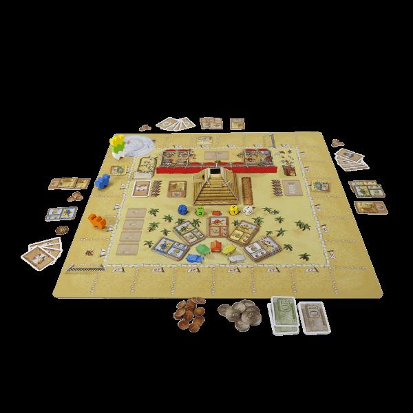 Camel Up playmat Grandprix of the Sahara speelsituatie1